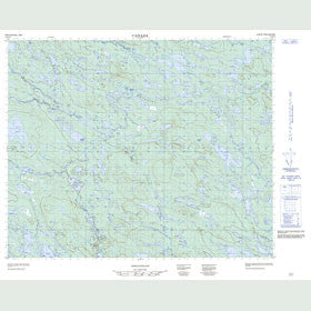 Canadian Topo Map - Map 013D10