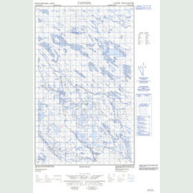 Canadian Topo Map - Map 013D11E