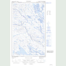 Canadian Topo Map - Map 013D11W