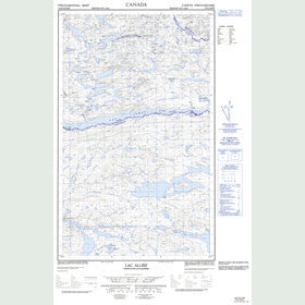 Canadian Topo Map - Lac Alliez - Map 013D12E