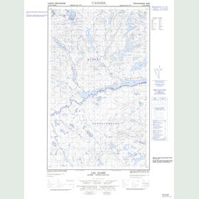 Canadian Topo Map - Lac Alliez - Map 013D12W