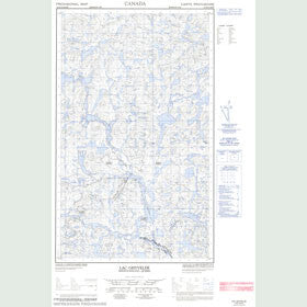 Canadian Topo Map - Lac Ghyvelde - Map 013D13E