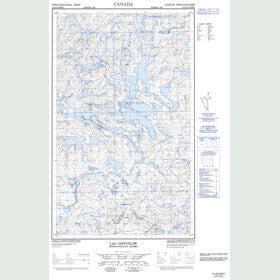 Canadian Topo Map - Lac Ghyvelde - Map 013D13W