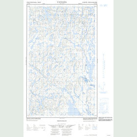 Canadian Topo Map - Map 013D14W