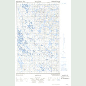Canadian Topo Map - Map 013D15W