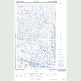 Canadian Topo Map - Map 013D16W