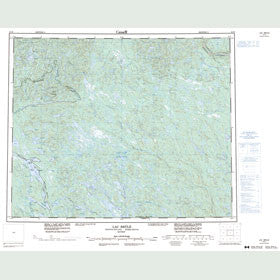 Canadian Topo Map - Lac Brûlé - Map 013D