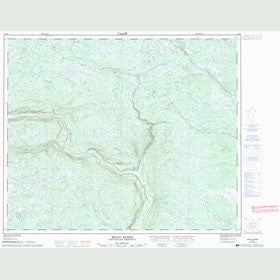 Canadian Topo Map - Mouni Rapids - Map 013E01