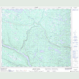 Canadian Topo Map - Metchin River - Map 013E06