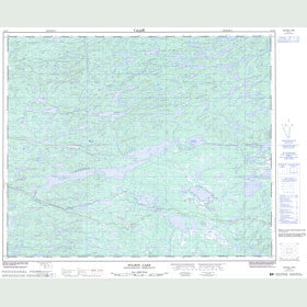 Canadian Topo Map - Wilson Lake - Map 013E07