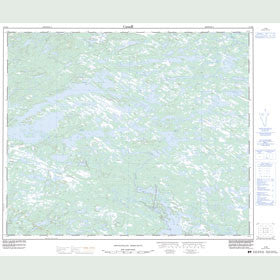 Canadian Topo Map - Map 013E08