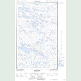 Canadian Topo Map - Sona Lake - Map 013E12E