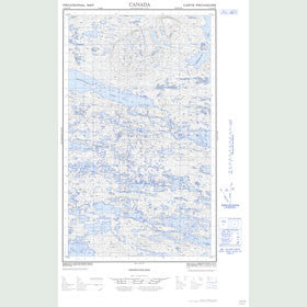 Canadian Topo Map - Map 013E14W