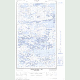 Canadian Topo Map - Disappointment Lake - Map 013E15E