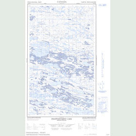 Canadian Topo Map - Disappointment Lake - Map 013E15W