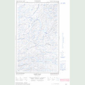 Canadian Topo Map - Hope Lake - Map 013E16E