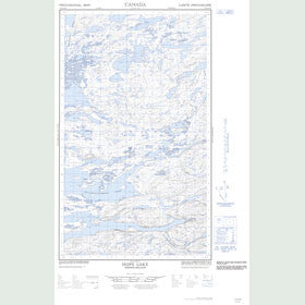Canadian Topo Map - Hope Lake - Map 013E16W