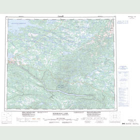 Canadian Topo Map - Winokapau Lake - Map 013E
