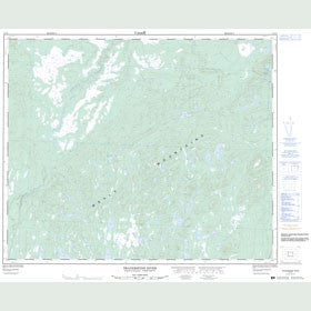 Canadian Topo Map - Traverspine River - Map 013F01