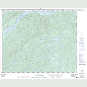 Canadian Topo Map - McKenzie River - Map 013F02