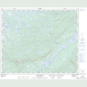 Canadian Topo Map - Pinus River - Map 013F03