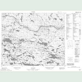 Canadian Topo Map - Map 013F05