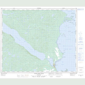 Canadian Topo Map - North West River - Map 013F09