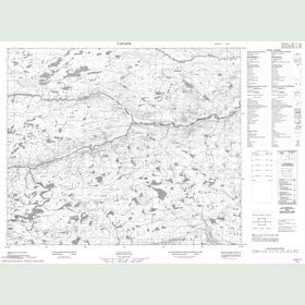 Canadian Topo Map - Map 013F11