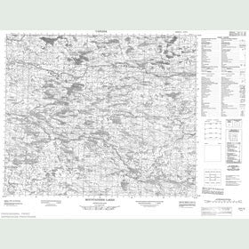 Canadian Topo Map - Mountaineer Lake - Map 013F12
