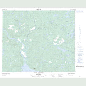 Canadian Topo Map - Mount Elizabeth - Map 013F15