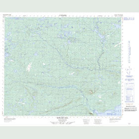 Canadian Topo Map - Mokami Hill - Map 013F16