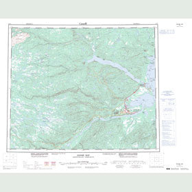 Canadian Topo Map - Goose Bay - Map 013F