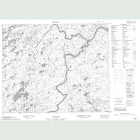 Canadian Topo Map - Map 013G01