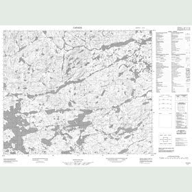 Canadian Topo Map - Map 013G02