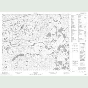 Canadian Topo Map - Map 013G03
