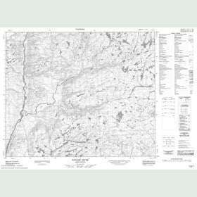 Canadian Topo Map - Kenamu River - Map 013G04
