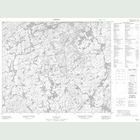 Canadian Topo Map - Map 013G07