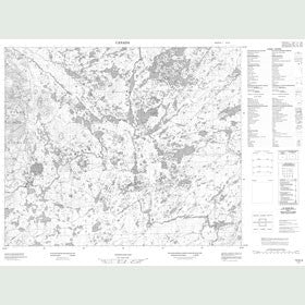 Canadian Topo Map - Map 013G09