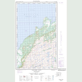 Canadian Topo Map - Eskimo Paps - Map 013G11W