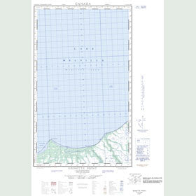 Canadian Topo Map - Epinette Point - Map 013G12E