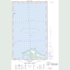 Canadian Topo Map - Epinette Point - Map 013G12W