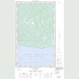 Canadian Topo Map - Mulligan Bay - Map 013G13E