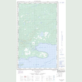 Canadian Topo Map - Mulligan Bay - Map 013G13W