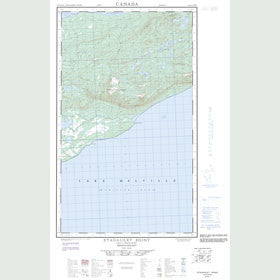Canadian Topo Map - Etagaulet Point - Map 013G14W