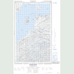 Canadian Topo Map - Neveisik Island - Map 013G15W