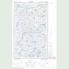 Canadian Topo Map - Backway Lake - Map 013G16E