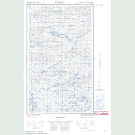 Canadian Topo Map - Backway Lake - Map 013G16W