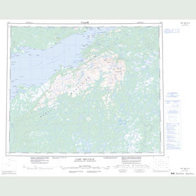 Canadian Topo Map - Lake Melville - Map 013G