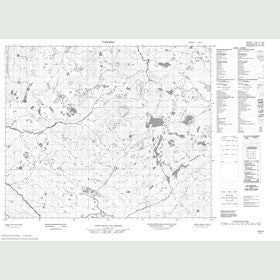 Canadian Topo Map - Map 013H03