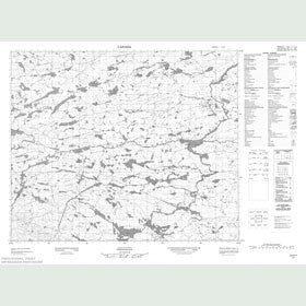 Canadian Topo Map - Map 013H07
